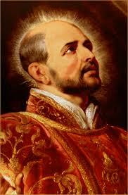 Picture of Ignatius at prayer