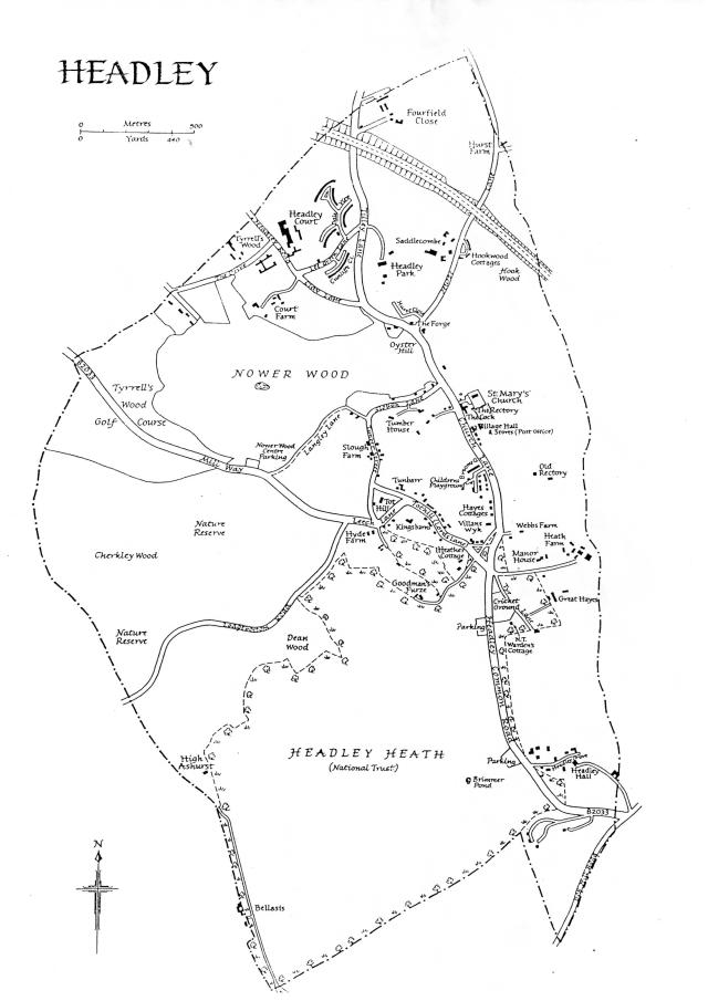 Headley parish map